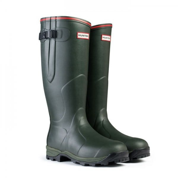Mens-Hunter-BALMORAL-NEOPRENE-Original-Wellington-Wellies-Boots-Dark-Olive-Green