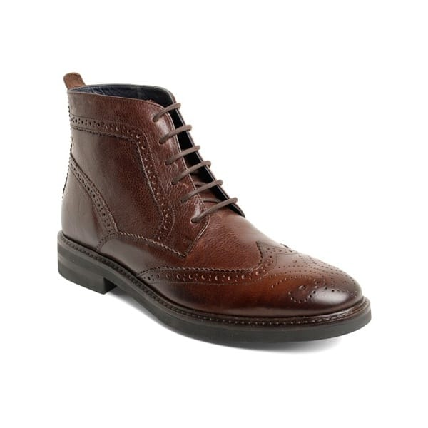 Base London Brocket - Zapatos de Cordones de cuero hombre, marrón - Marron (Brown Grain), 40