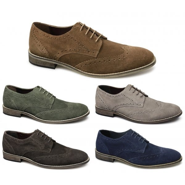 Mens Brown Suede Shoes