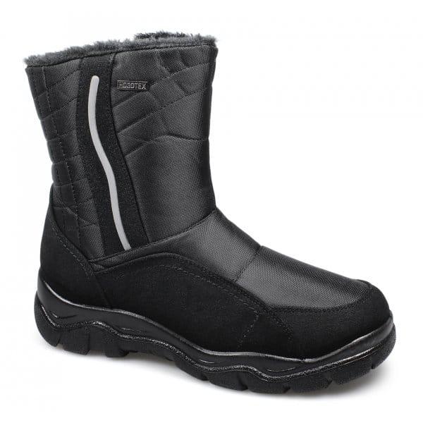 stallion mens faux fur zip comfy winter boots black buy