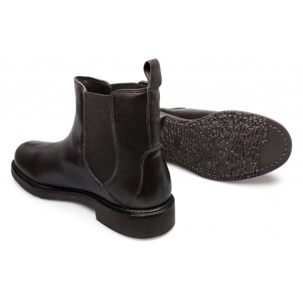 lucini mens soft leather pull on chelsea boots brown buy
