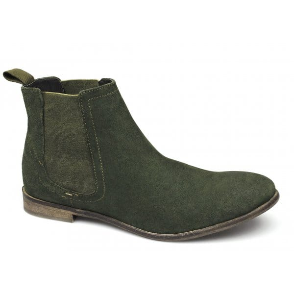 brogues mens suede leather chelsea boots green