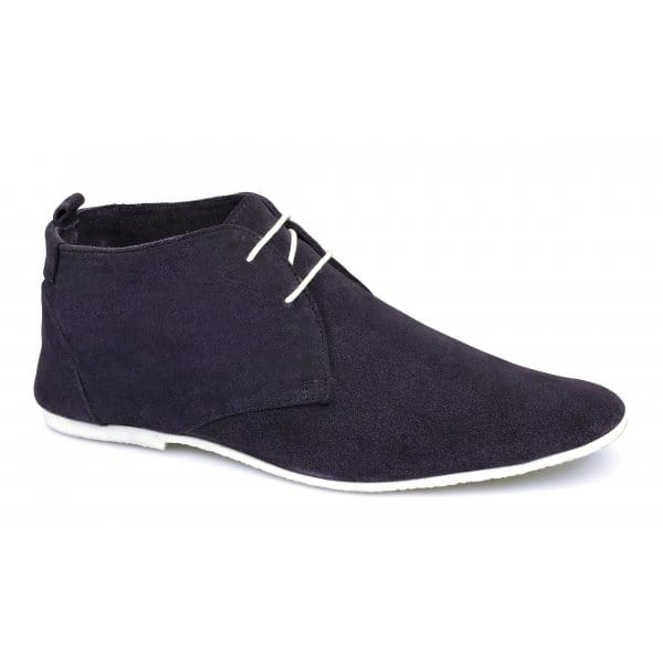 gucinari mens leather suede desert boots faded purple