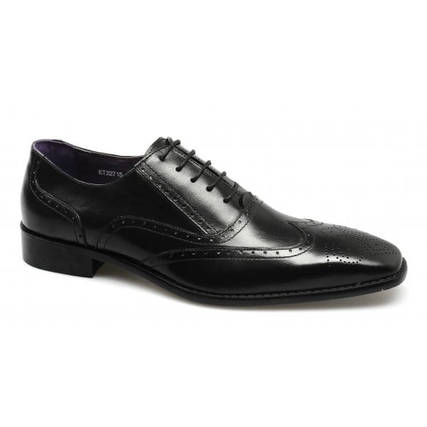 Gucinari-Mens-Leather-Comfy-Lace-Up-Brogue-Chisel-Toe-Formal-Office-Shoes-Black