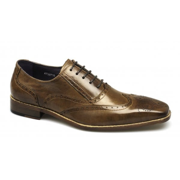 Gucinari-Mens-Leather-Comfy-Lace-Up-Brogue-Chisel-Toe-Formal-Office-Shoes-Tan