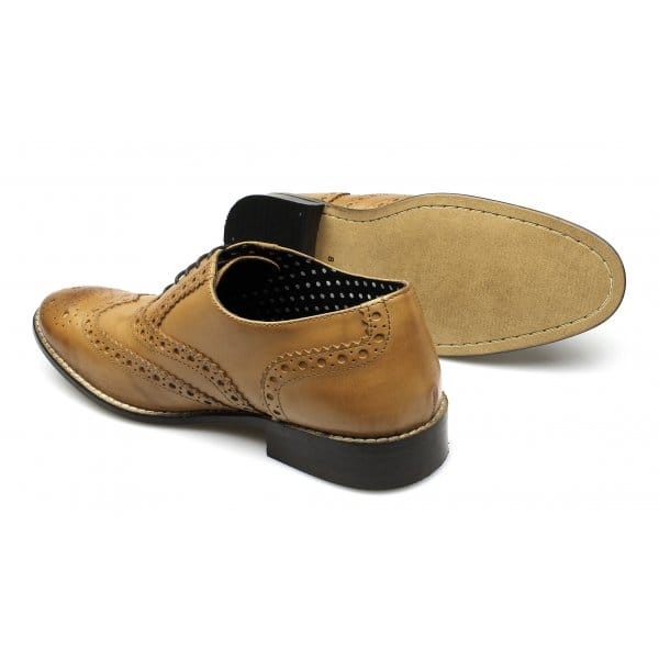 London-Brogues-GATSBY-Mens-Soft-Leather-Suede-Lace-Up-Funky-Evening-Formal-Shoes
