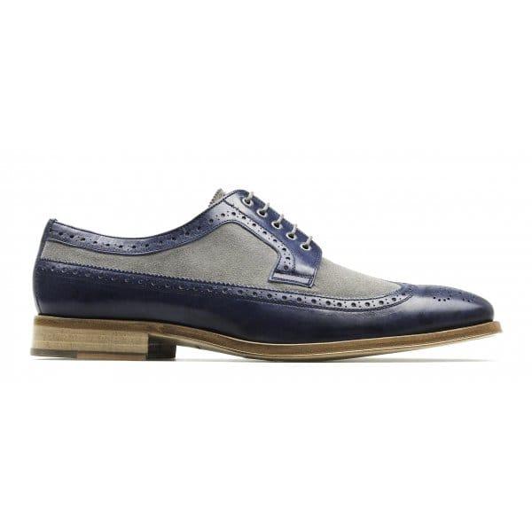 Mens Grey Suede Brogue Shoes