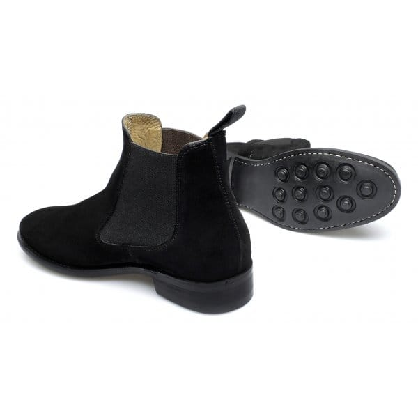 lucini mens suede welted chelsea boots black buy at shuperb
