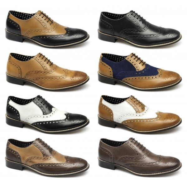 brogues gatsby mens leather shoes brown buy