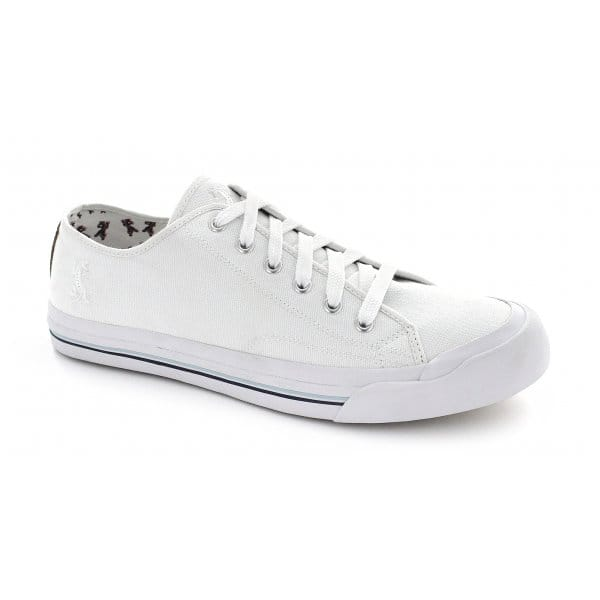 front oka mens canvas lace up casual deck shoes white