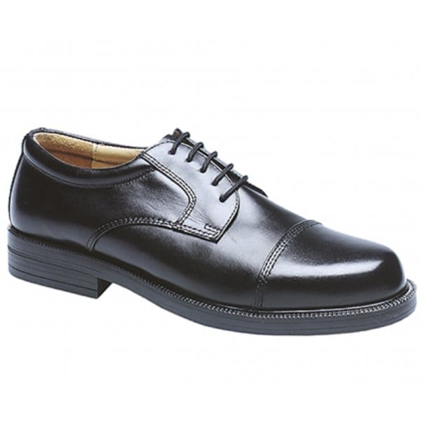 Scimitar-Mens-Leather-Lace-Up-Toe-Cap-Padded-Office-Formal-Gibson-Shoes-Black