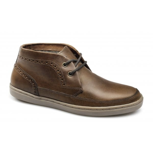 red tape tarrant mens soft leather chukka boots brown