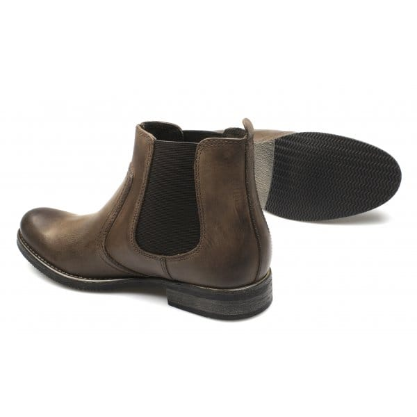 ikon powell mens leather slip on chelsea boots brown buy