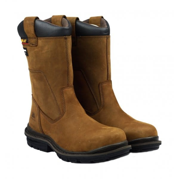 cat 174 olton mens safety rigger boots brown cat 174 from