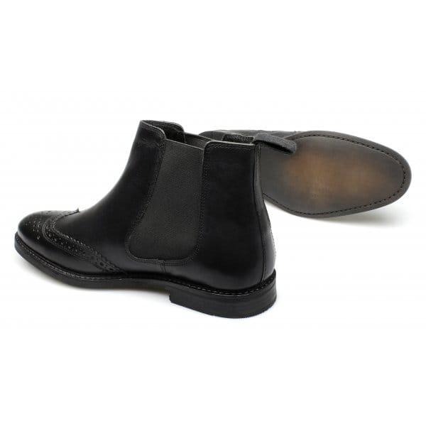 boyne mens formal brogue chelsea boots black