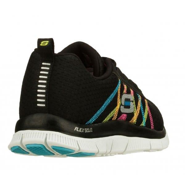 Skechers-Flex-recurso-algo-Divertido-Para-Mujer-Damas-lazada-Running-Gym-formadores miniatura 4