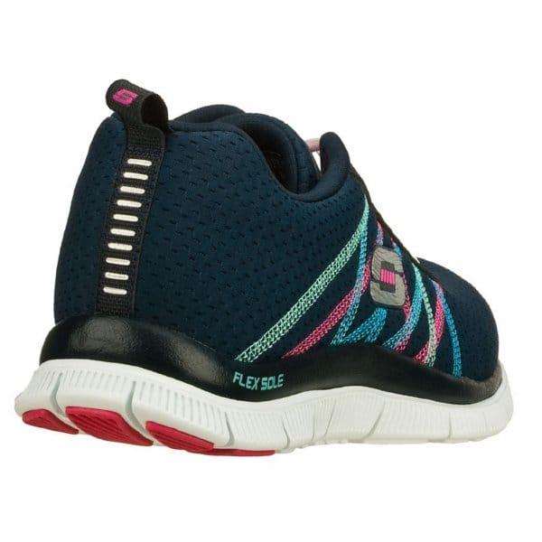Skechers-Flex-recurso-algo-Divertido-Para-Mujer-Damas-lazada-Running-Gym-formadores miniatura 8