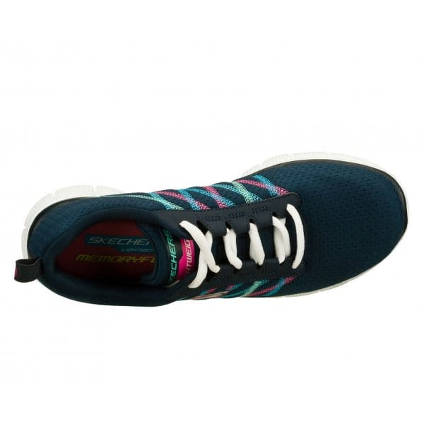 Skechers-Flex-recurso-algo-Divertido-Para-Mujer-Damas-lazada-Running-Gym-formadores miniatura 9