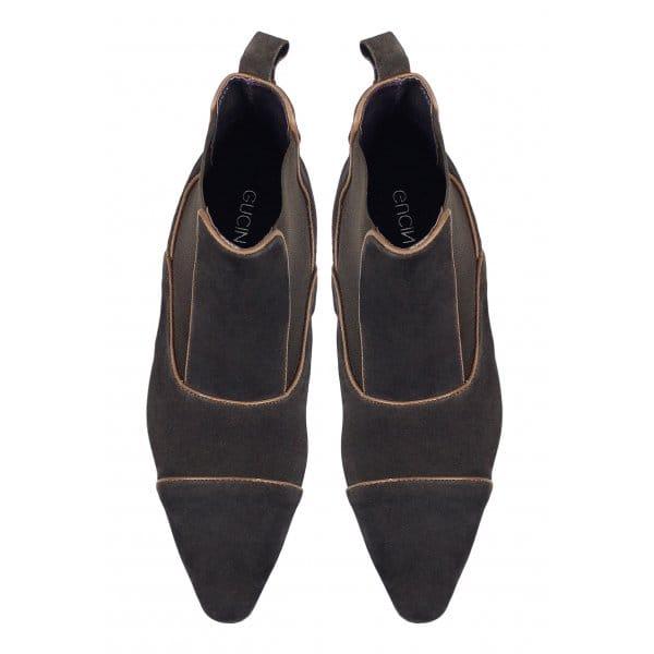 gucinari mens suede pointed toe dealer boots brown buy