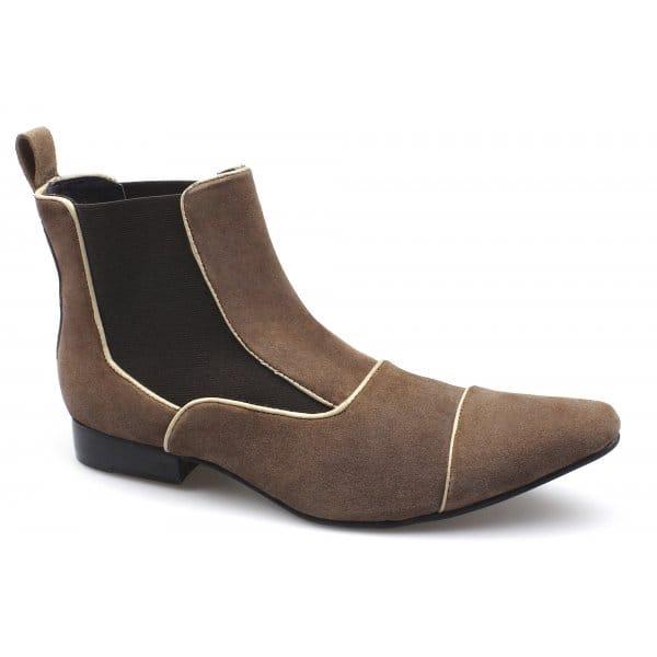 gucinari mens suede pointed dealer boots brown buy