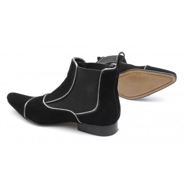 gucinari mens suede pointed toe dealer boots black buy