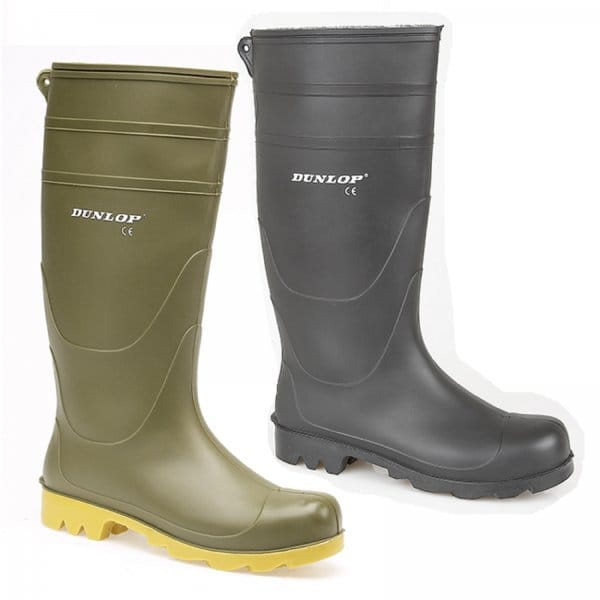 dunlop universal mens wellies wellington boots black buy