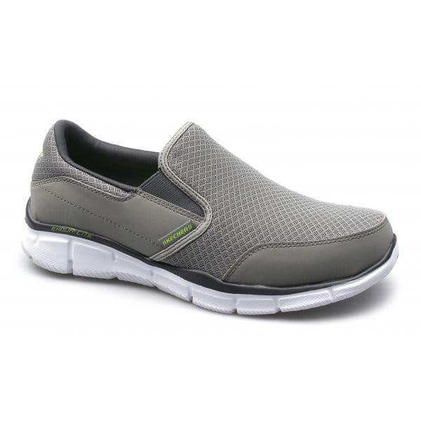 Skechers Equalizer Persistent Mens Slip On Trainers Grey Shuperb