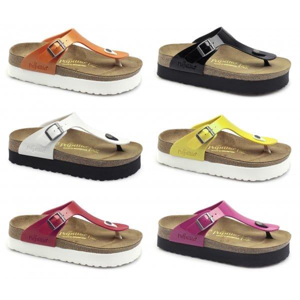 papillio birkenstock gizeh womens platform sandals patent. Black Bedroom Furniture Sets. Home Design Ideas