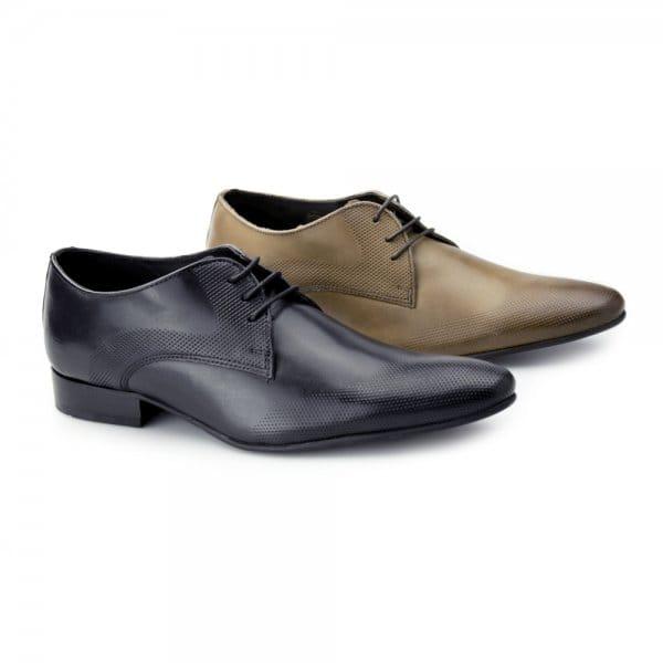 ikon jackson mens leather wingtip shoes black buy at shuperb