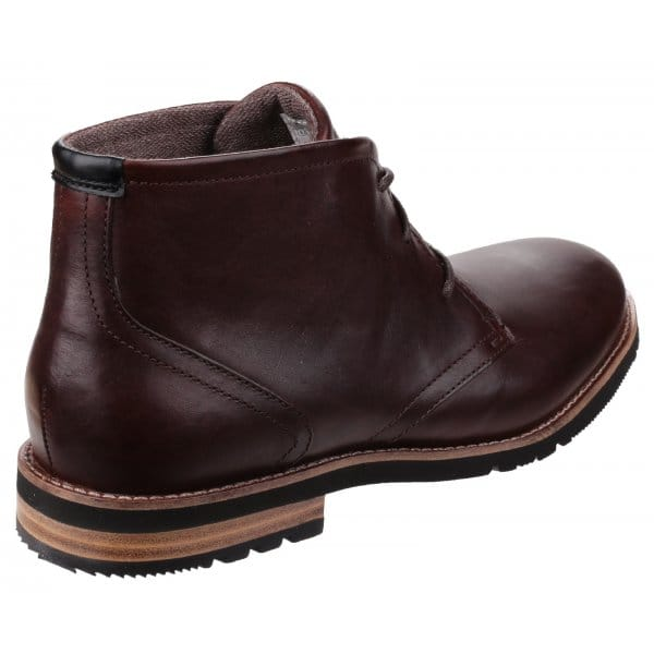 rockport ledge hill 2 mens lace leather chukka boots brown