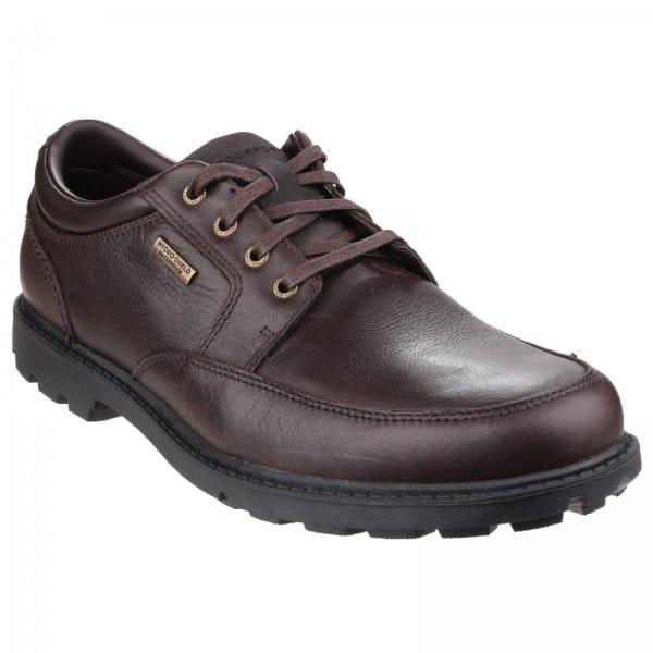 Rockport Rugged Bucks Mens Leather Waterproof Shoes Brown