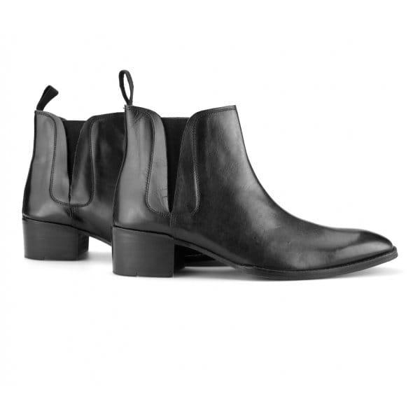 gucinari george mens cuban heel chelsea boots black shuperb