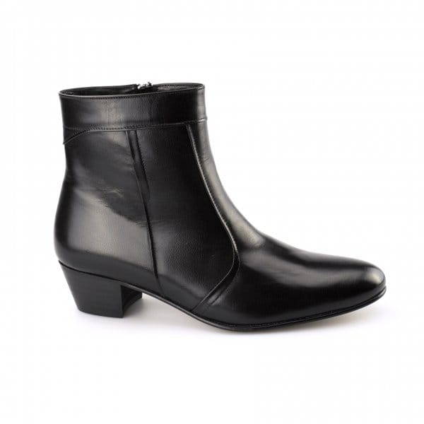 buy emmanuel mens cuban heel smooth leather boots black
