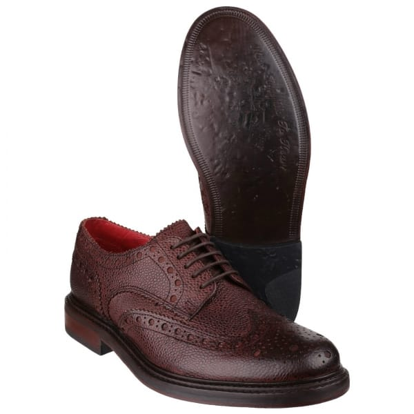 base faraday mens leather lace up brogue shoes
