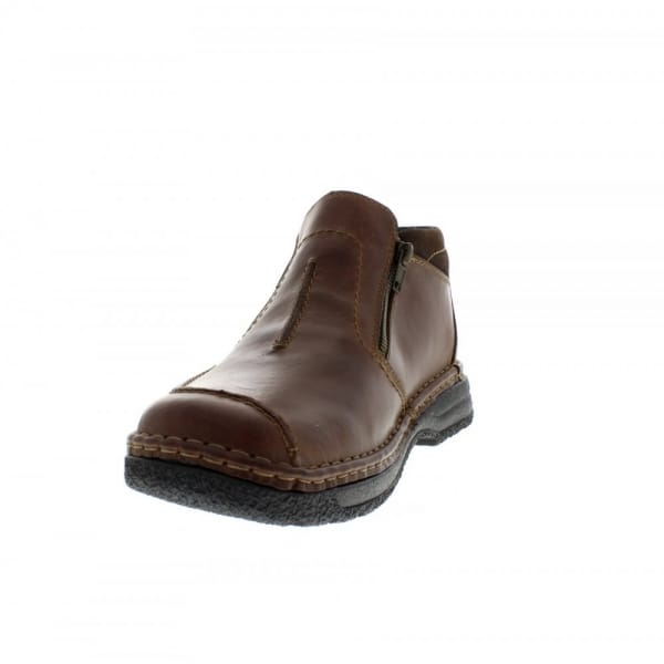 rieker antistress mens leather wide boots brown