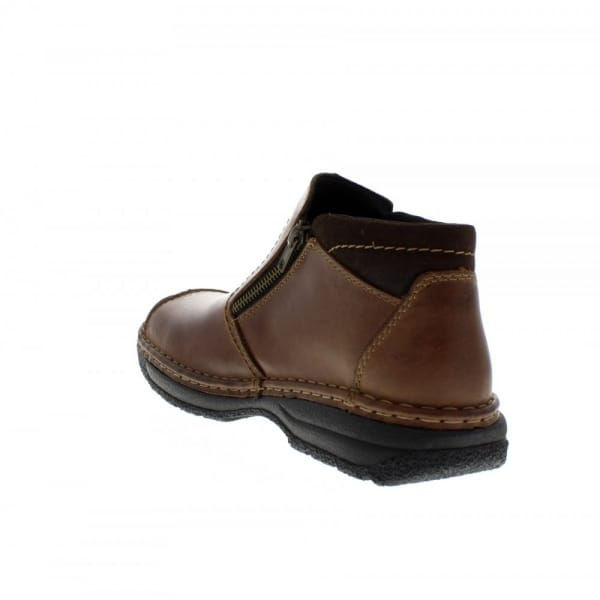 Rieker Antistress Mens Leather Extra Wide Boots Brown