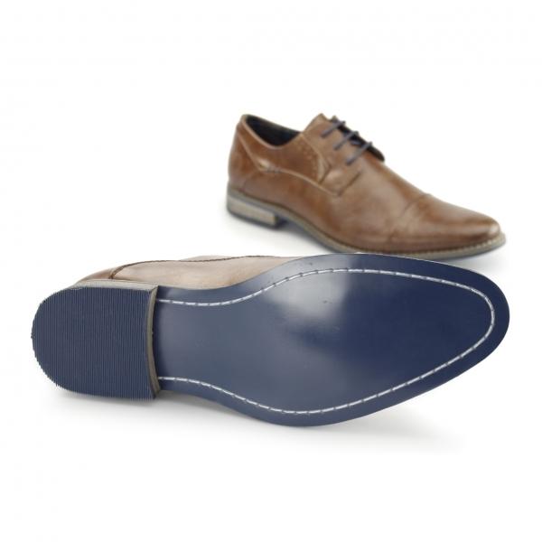 bottesini senator mens faux leather derby shoes brown