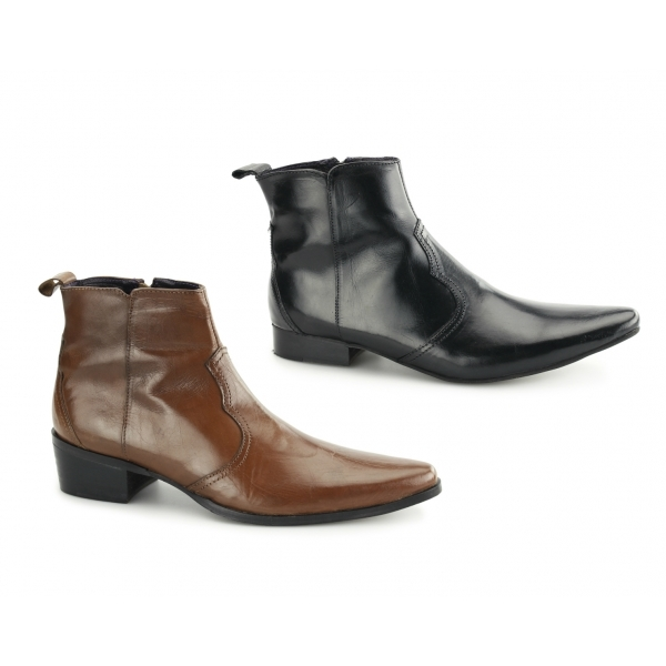gucinari ravello mens leather zip ankle boots buy at