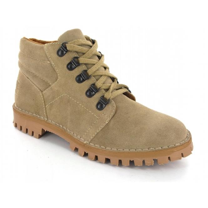 Roamers Mens 5 Eyelet D Ring Desert Boots Taupe