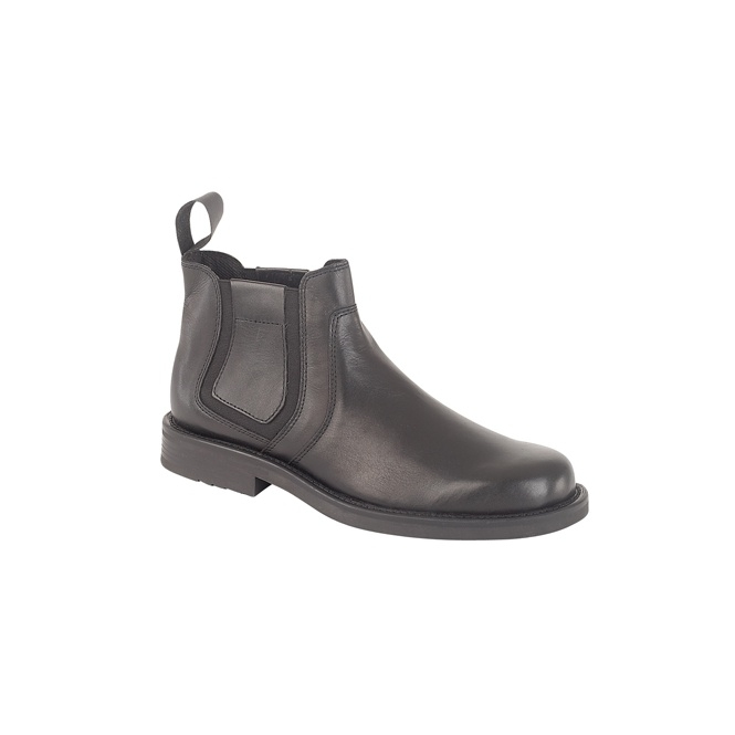 Roamers ALEXANDER Mens Leather Chelsea Boots Black