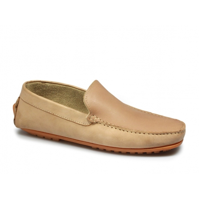 mens slip on leather casual driving boat shoes