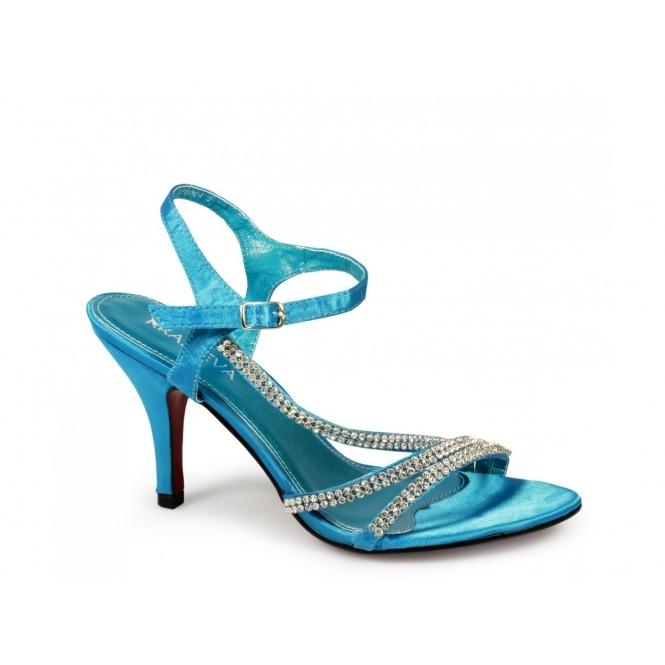 shuperb tina high heel diamante satin shoes
