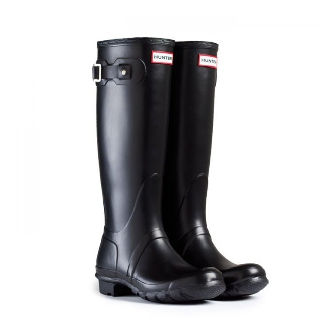 Hunter ORIGINAL Unisex Tall Wellington Boots Black