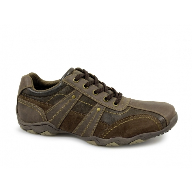 Route 21 DOUG Mens Casual Leisure Trainers Brown