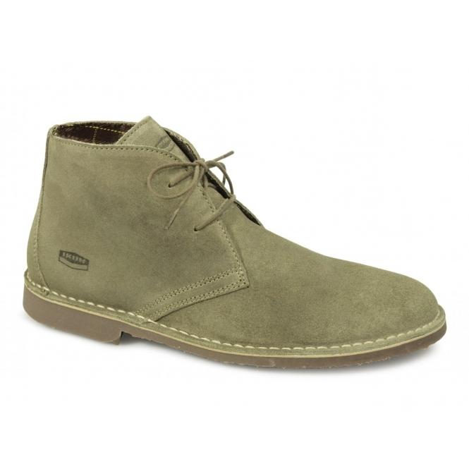 Ikon GOBI Mens 2 Eyelet Suede Desert Boots Taupe