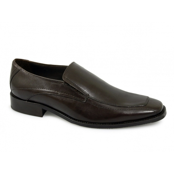 Alessandro Nerini PRINCE Mens Leather Formal Loafers Brown