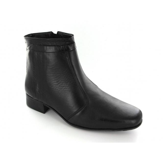 Scimitar GREG Mens Soft Leather Ankle Boots Black