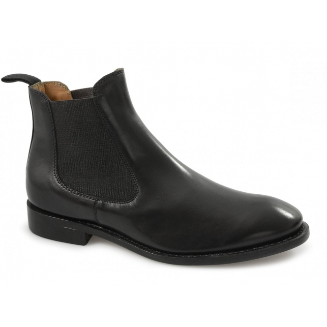 Lucini MONTGOMERY Mens Leather Chelsea Boots Black