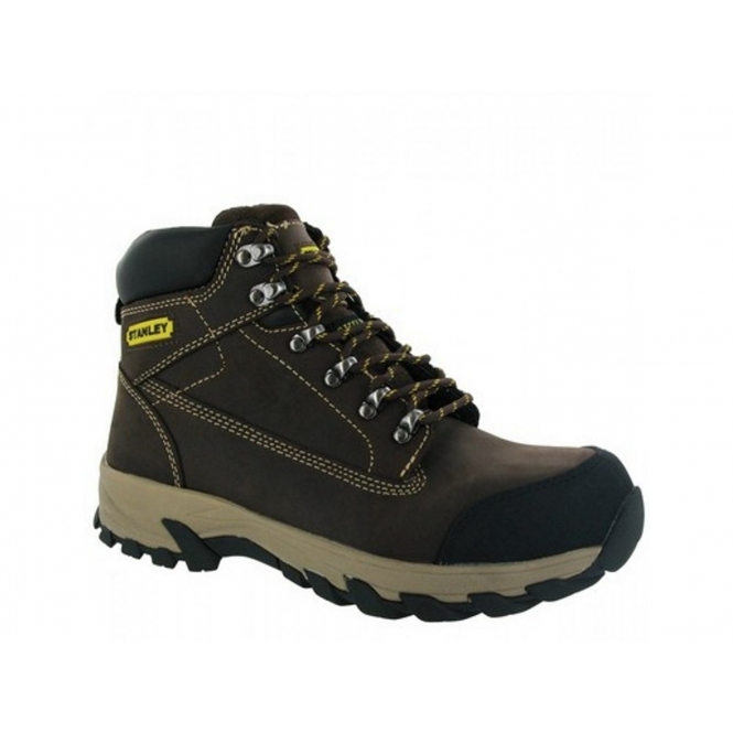 stanley milford mens steel toe cap safety boots brown