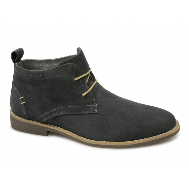front roscoe mens suede leather desert boots grey buy at